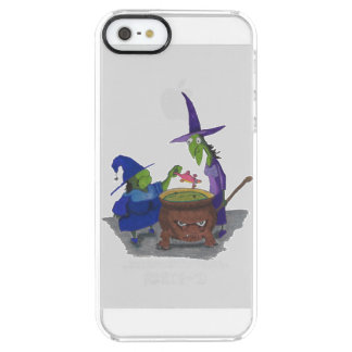 2 Witches brewing up potion in Cauldron Halloween Clear iPhone SE/5/5s Case