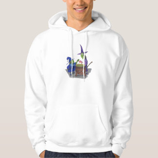 2 Witches brewing up potion in Cauldron Halloween Hoodie
