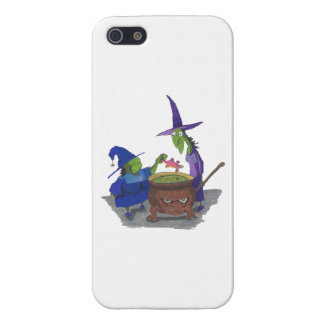 2 Witches brewing up potion in Cauldron Halloween iPhone SE/5/5s Case