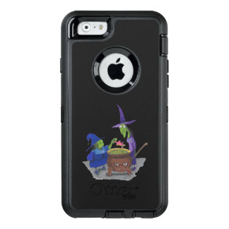 2 Witches brewing up potion in Cauldron Halloween OtterBox Defender iPhone Case