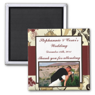 """2""""x2"""" Announcement Magnet Fall Floral/Branches"""