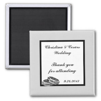 "2""x2"" Announcement Magnet His/Hers Diamond Wedding"