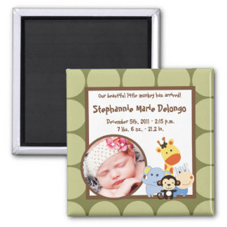"2""x2"" Announcement Magnet Jungle Play"