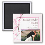 "2""x2"" Announcement Magnet Pink Cherry Blossom"