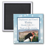 """2""""x2"""" Announcement Magnet Twinkling Snow/Bare Tree"""