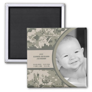 "2""x2"" ARMY ACU Camo Birth Announcement Magnet"
