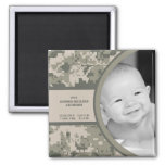 "2""x2"" ARMY ACU Camo Birth Announcement Magnet Magnet"