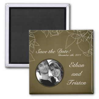 """2""""x2"""" Save the Date Magnet Autumn Floral Fall Brow"""