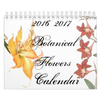 2 Year 2016 Botanical Flower Floral Art Calendar