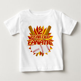 2 Year Old Baseball Fanatic Baby T-Shirt