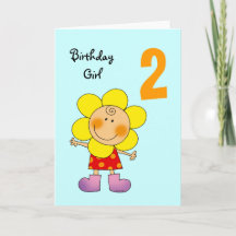 Year Old Birthday Greeting Cards, Note Cards and 2 Year