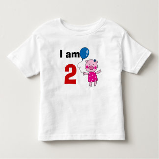 2 year old birthday girl gift (cute pig) toddler t-shirt