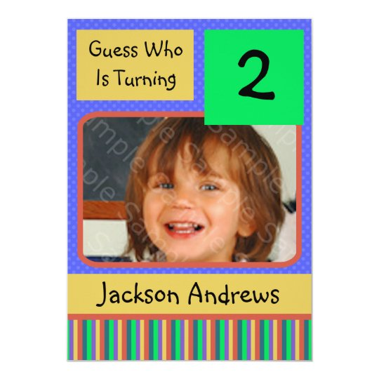 2 Year Old Birthday Party Invitations BOY