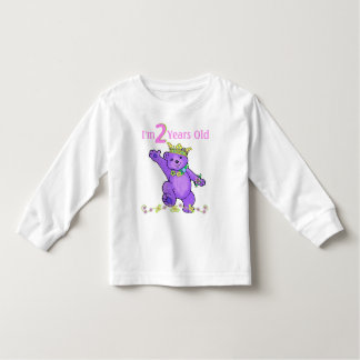2 Year Old Birthday Princess Bear Toddler T-shirt