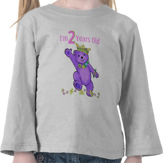 2 Year Old Birthday Princess Bear Shirt