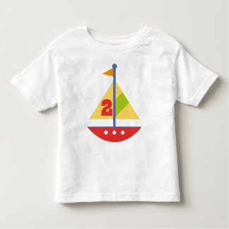 2 Year Old Birthday Sailboat Toddler T-shirt