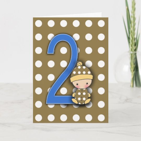 2 Year Old Boy Birthday Card