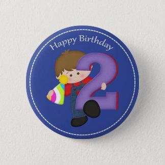 2 year old boys Happy Birthday Button