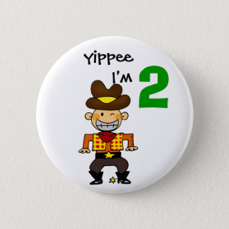 2 year old cowboy pinback button