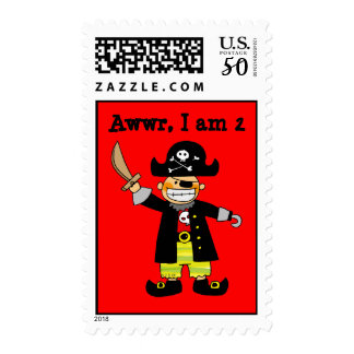 2 year old pirate boy postage