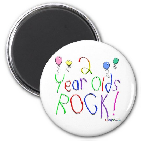 2 Year Olds Rock ! Magnet