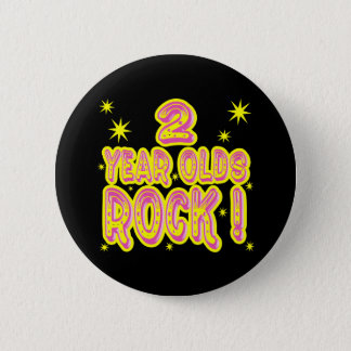 2 Year Olds Rock! (Pink) Button