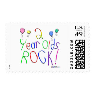 2 Year Olds Rock ! Stamp