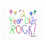 2 Year Olds Rock ! Postcard
