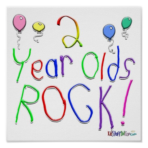 2 Year Olds Rock ! Poster