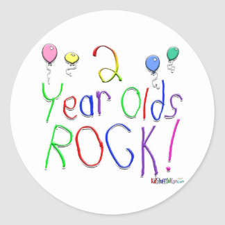 2 Year Olds Rock ! Round Stickers