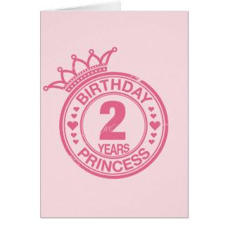 2 years - Birthday Princess - pink Card