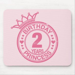Happy Birthday Pink Princess Mouse Pads