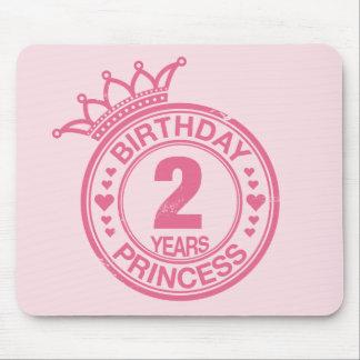 2 years - Birthday Princess - pink Mouse Pad