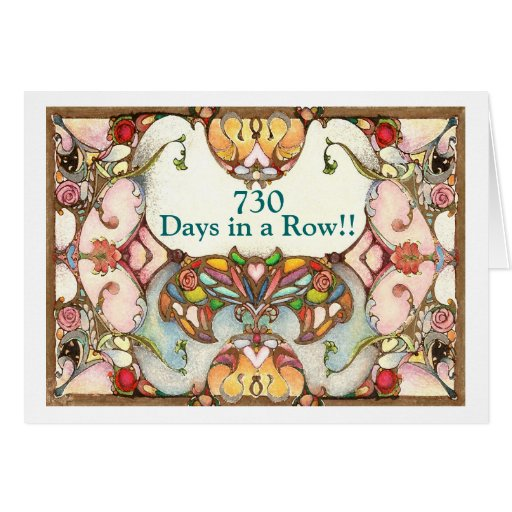 2 Years of Recovery Days Greeting Card