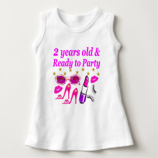 2 YEARS OLD AND READY TO PARTY PRINCESS DRESS
