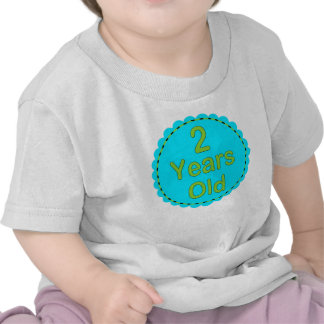 2 Years Old Teal Lime Baby Outfit Tshirts