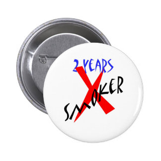 2 Years Red X-smoker Pinback Buttons