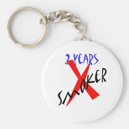 2 Years Red X-smoker Keychain