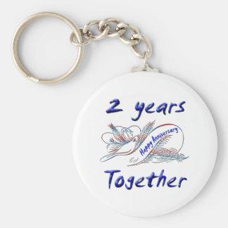 2 Years Together Keychain