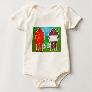 2 Yeh-ren,text & flag in forest..JPG Baby Bodysuit