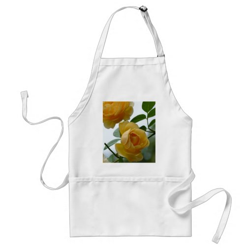 2 Yellow Roses Adult Apron