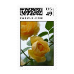 2 Yellow Roses Postage Stamps