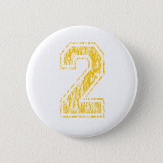 #2 Yellow Varsity Pinback Button
