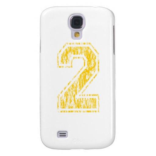 #2 Yellow Varsity Samsung Galaxy S4 Case