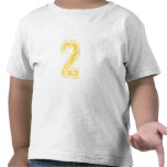 #2 Yellow Varsity T Shirts