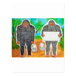2 Yowie A,text & furry in outback, Post Card