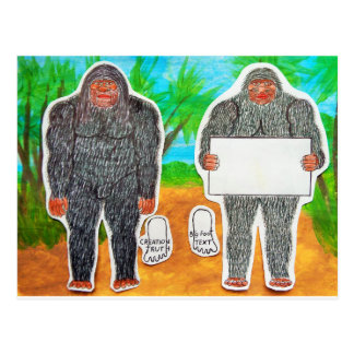 2 Yowie A,text & furry in outback, Postcard