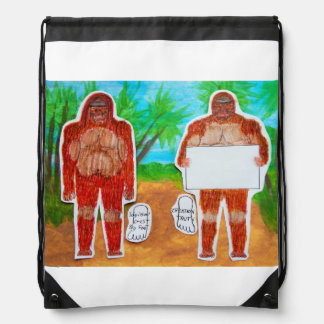 2 Yowie s 1 text in outback Oz, Drawstring Backpack
