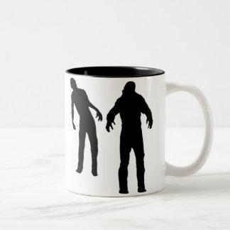 2 Zombies Two-Tone Coffee Mug