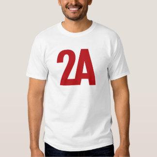 2A - 2da enmienda - rojo Playeras